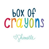 Box Of Crayons de American Crafts de Shimelle