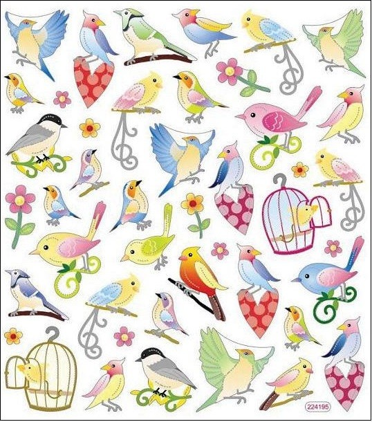 The Beauty Of Birds Stickers