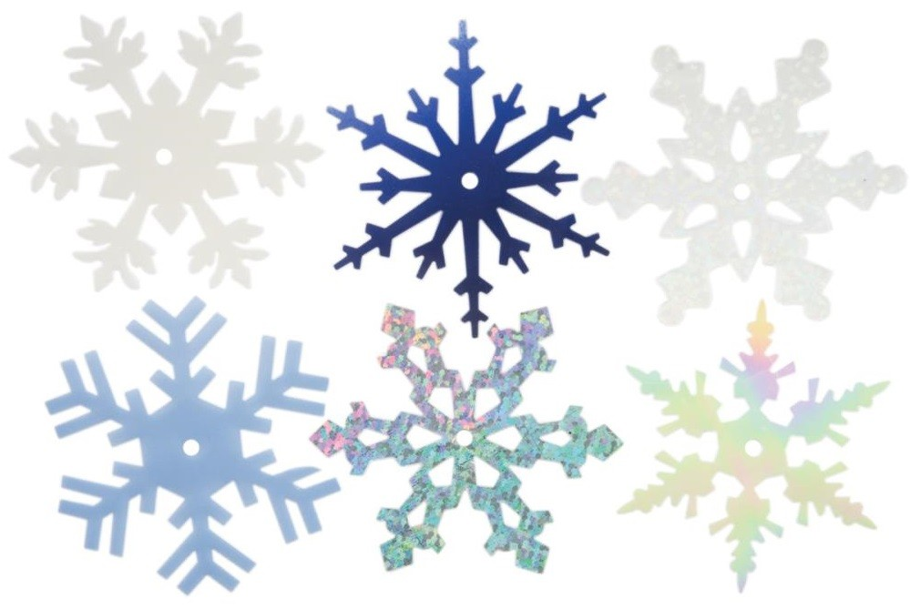 Large Shimmer Snowflakes 2""