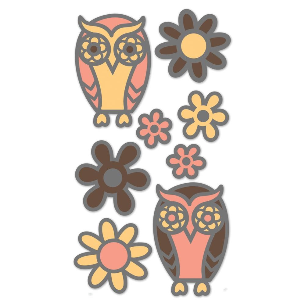 Owls & Flowers Stickers