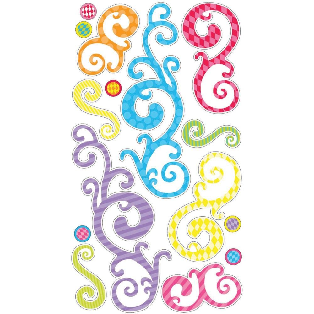 Birthday Swirls Stickers