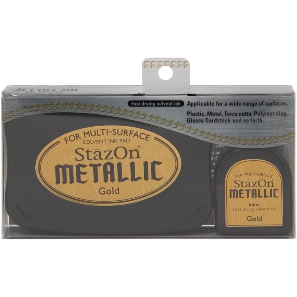 Tinta Stazon Metallic Gold