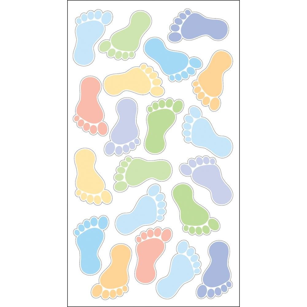 Boys' Footprints Stickers
