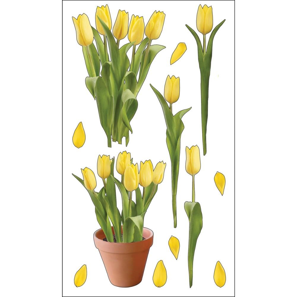 Yellow Tulips Stickers