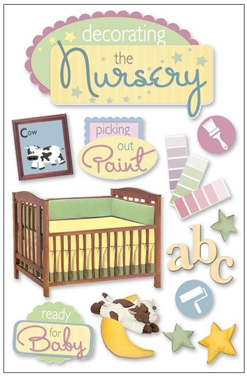 Decorating The Nursery 3D Stickers