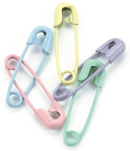 Pastel Safety Pins