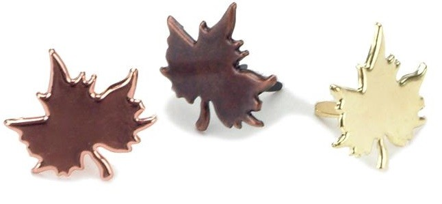 Metal Maple Leaf Fasteners