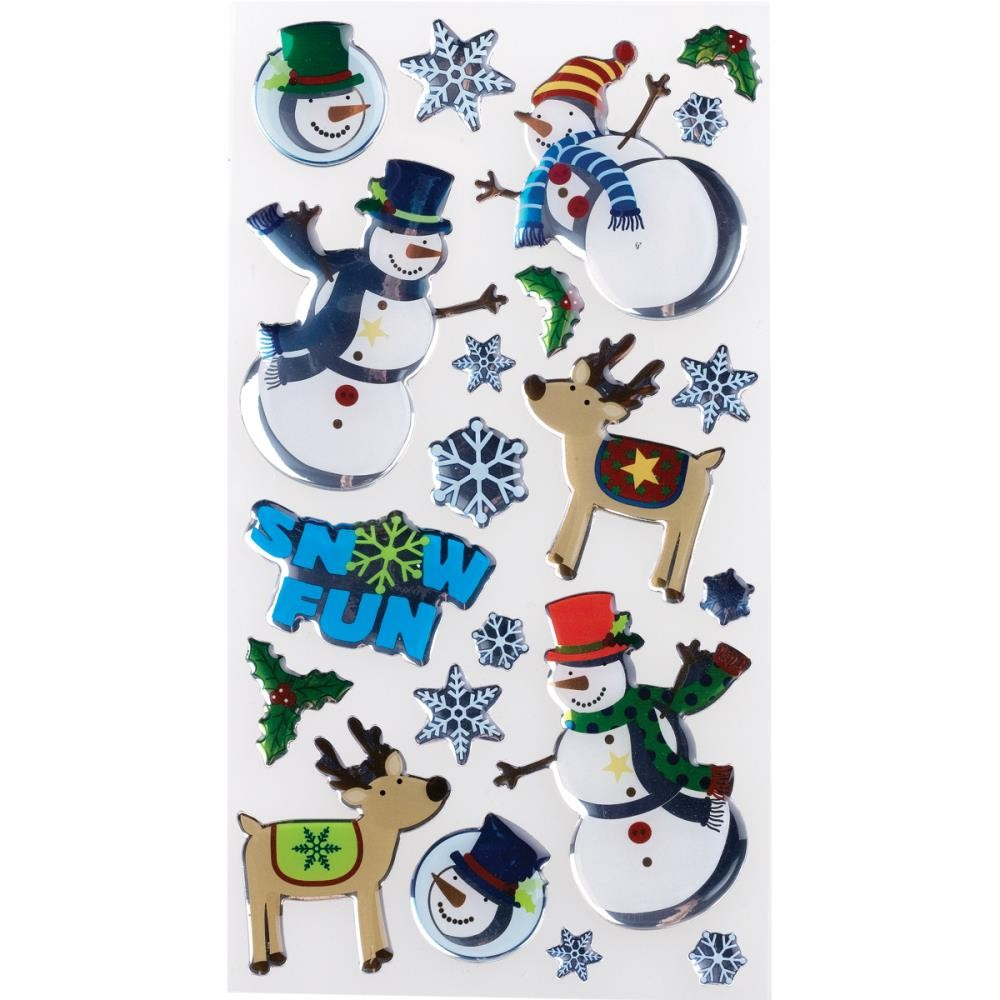 Roly Poly Snowmen Stickers