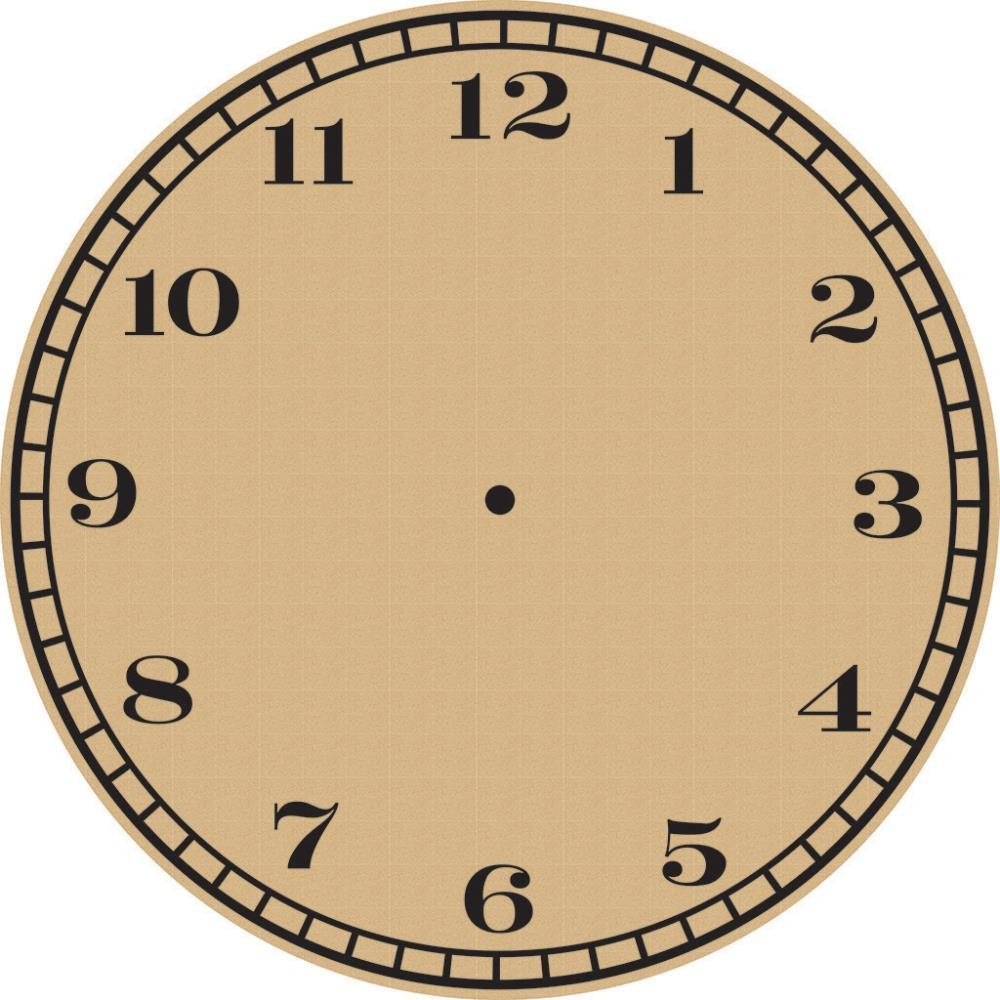 Papel estampado Una cara 12x12 Basics Clock