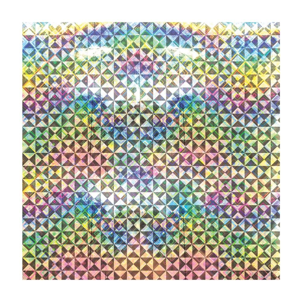 Papel estampado Una cara 12x12-Basics-Triangle/Holographic