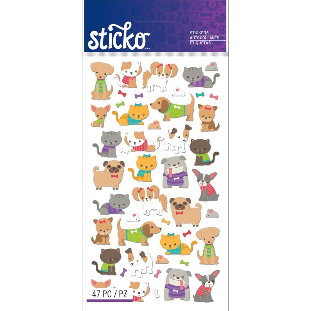 Tiny Cats & Dogs Stickers