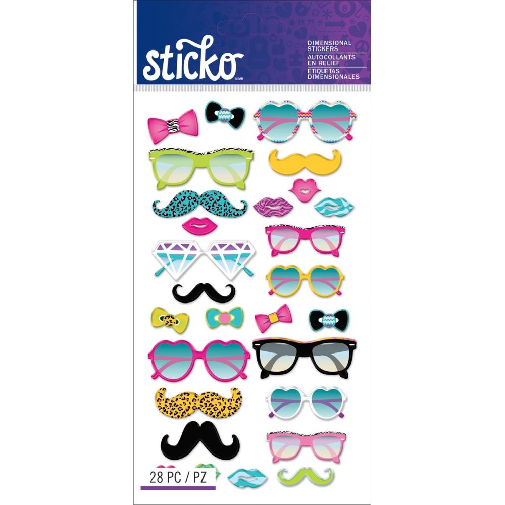 Glasses & Shades Puffy Stickers