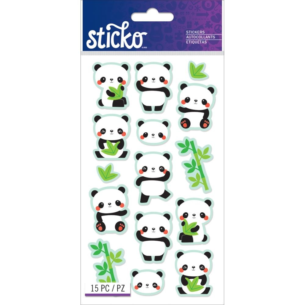 Rolly Polly Panda Stickers