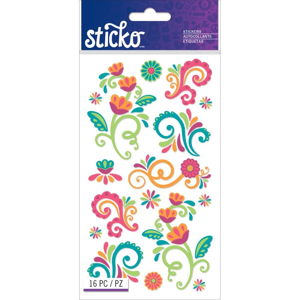 Bright Flourishes Stickers