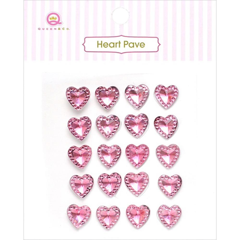 Heart Pave Pink