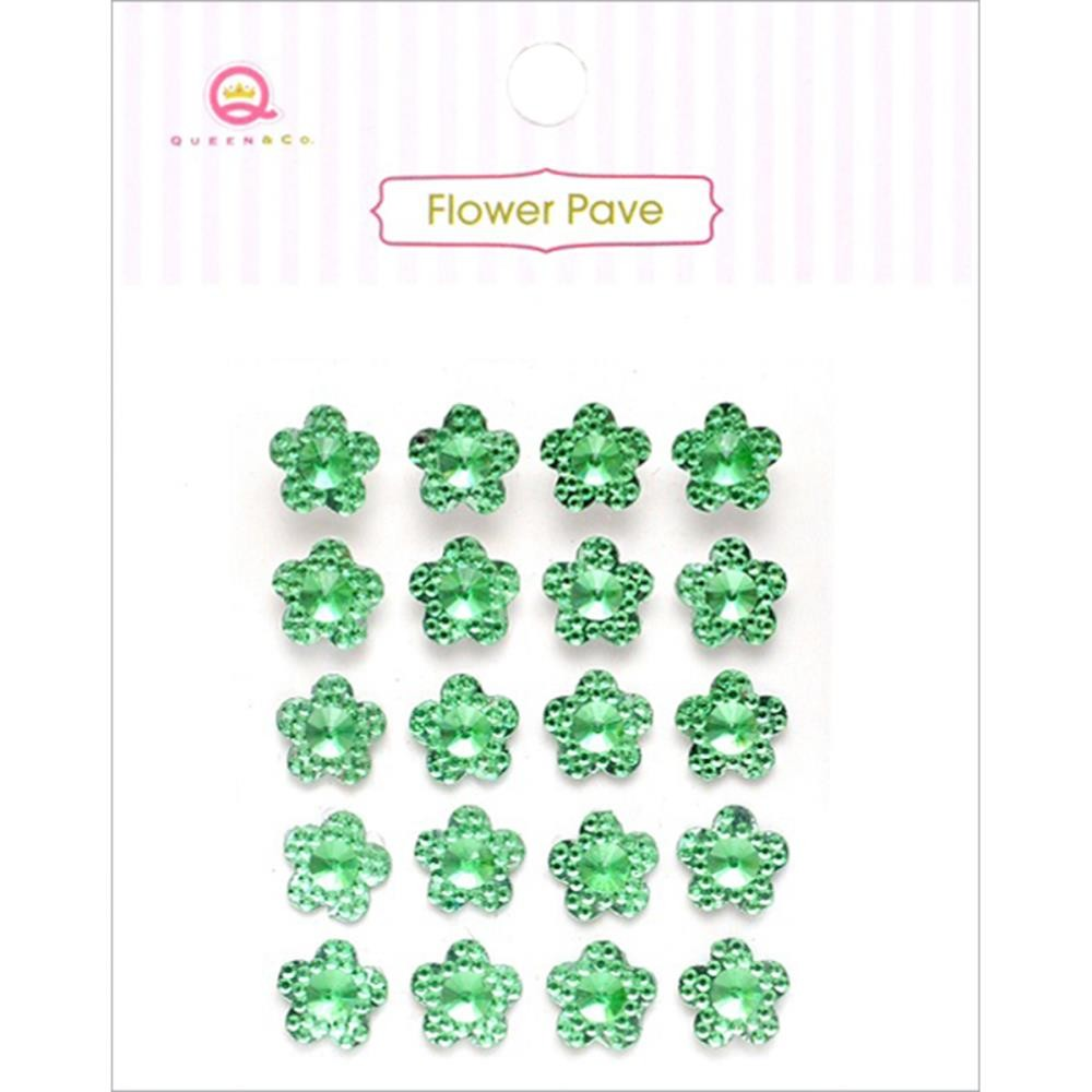 Flower Pave Green