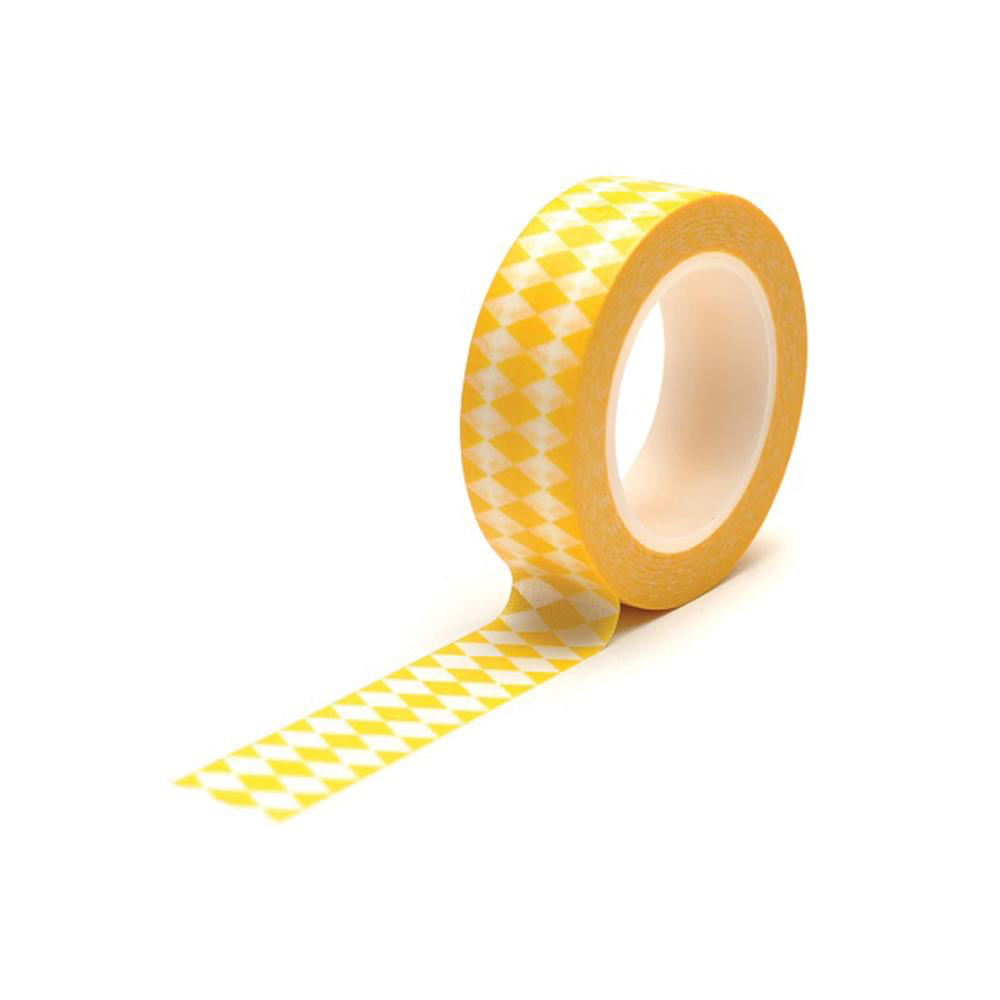 Washi Tape Diamonds Yellow