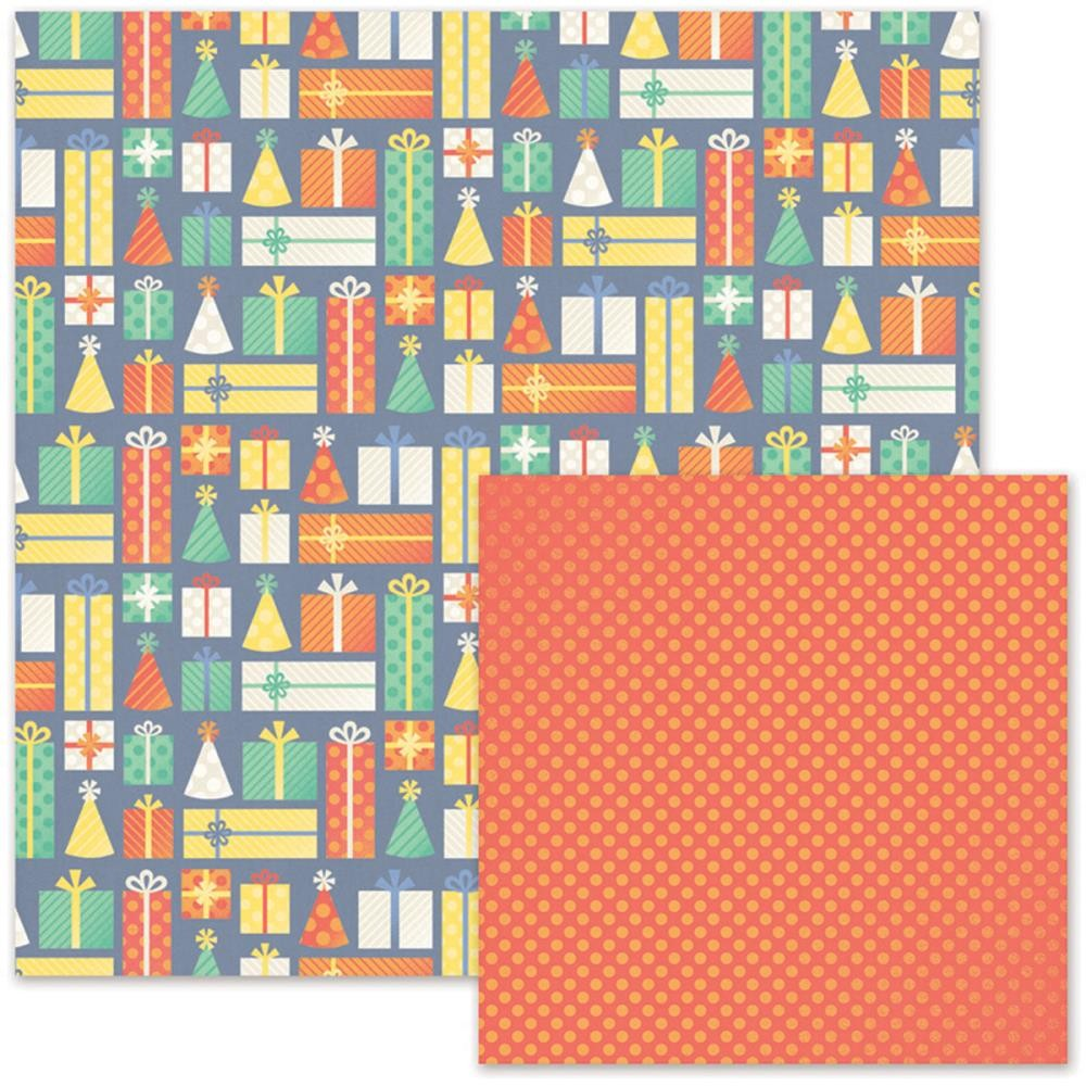 Papel estampado Doble cara 12x12-Cakes & Candles-Presents
