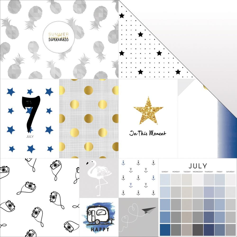 Papel estampado Doble cara 12x12 These Are The Days July