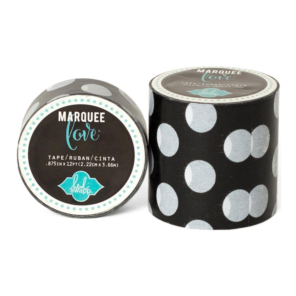 Marquee Washi Black & White Polka Dot S
