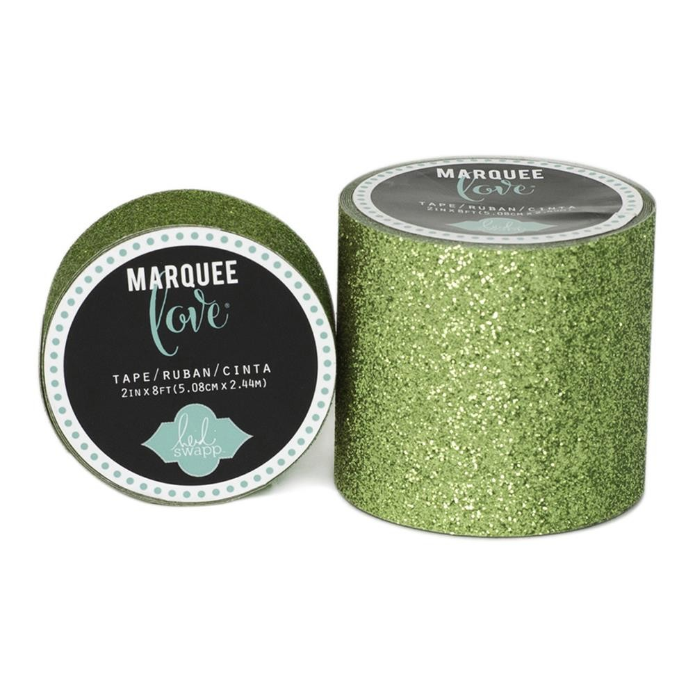 Marquee Washi Lime Green Glitter S
