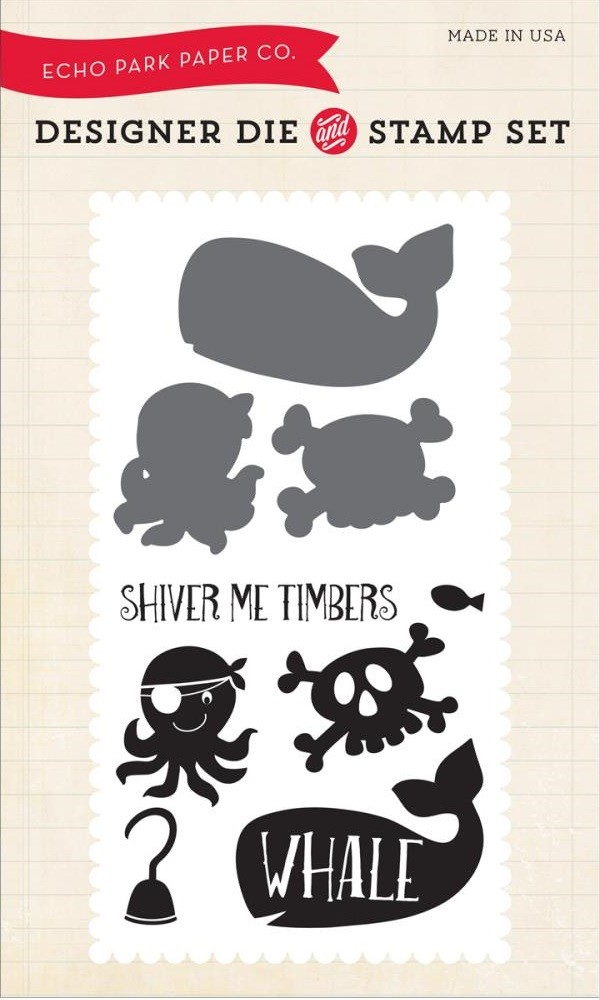 Troquel Sello y Shiver Me Timbers