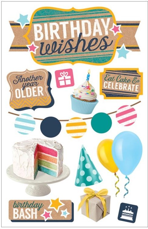 Birthday Wishes 3D Stickers