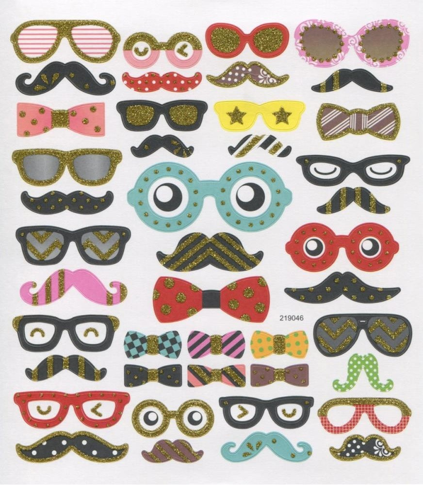Moustaches & Bowties Stickers