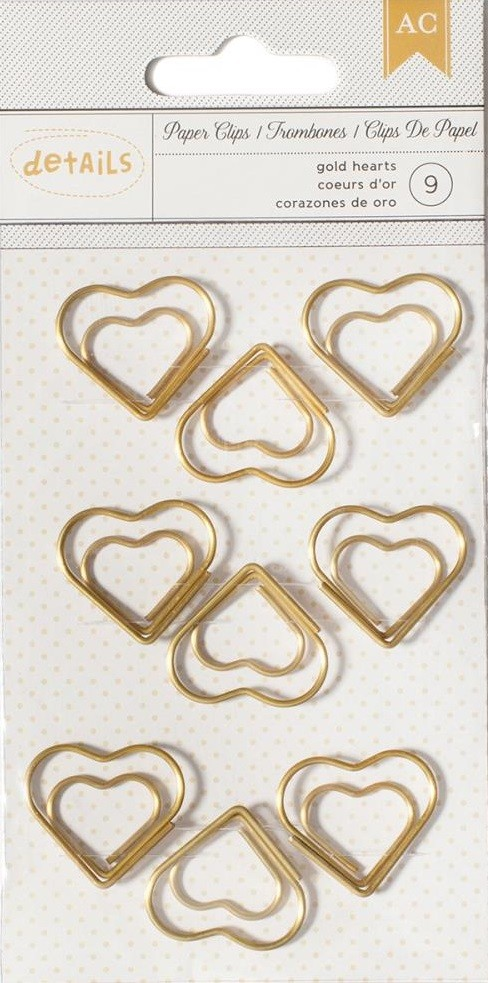 Heart Paper Clips Desktop Essentials