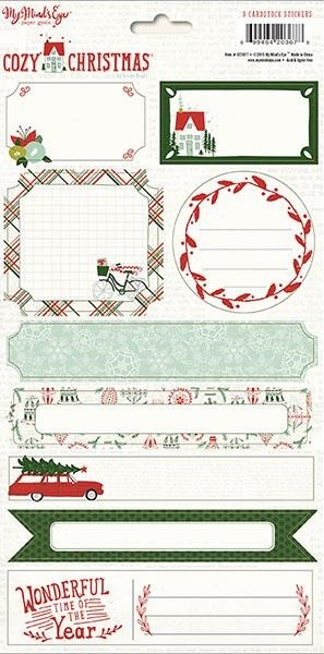 Labels Stickers Cozy Christmas