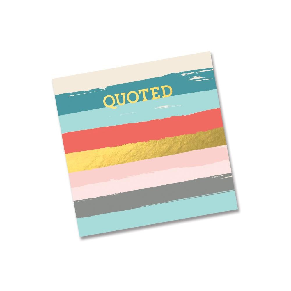 """Quoted Journal 8""""X8"""""""