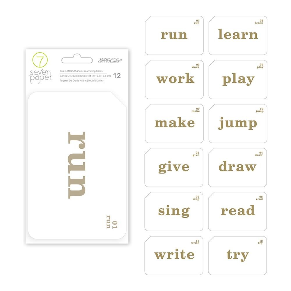 """Darcy Journaling Cards 4""""X6"""" Gold"""