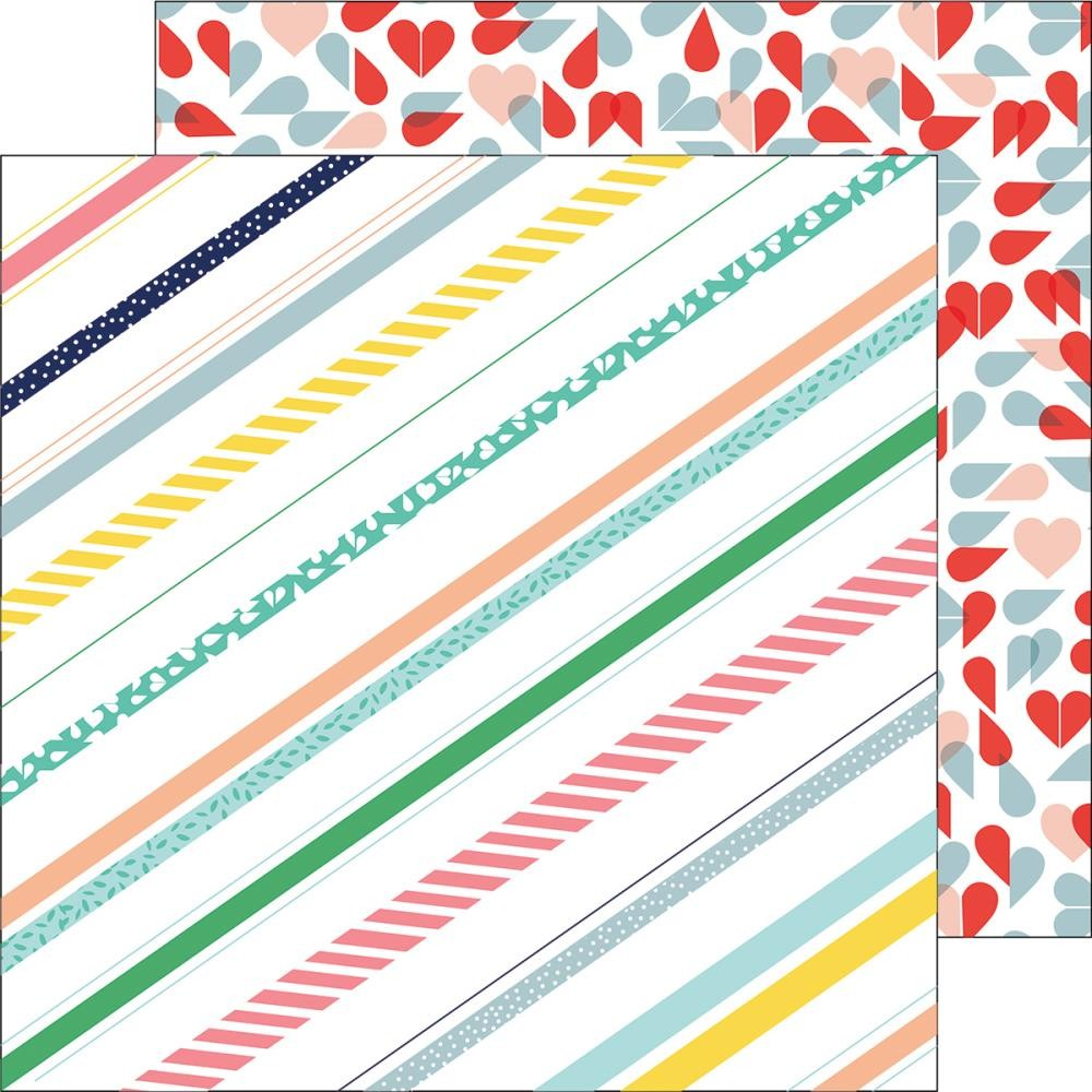 Papel estampado Doble cara 12x12 Felicity Pretty Stripes