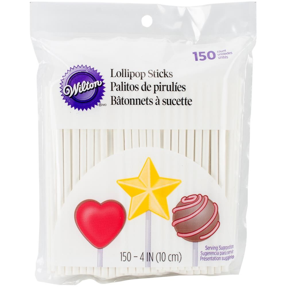 "Lollipop Sticks 4"" 150 un."