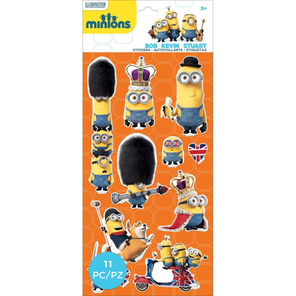 Mini Minions British Invasion Stickers