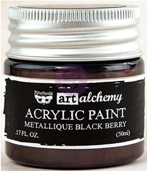 Pintura acrílica Metallique   Black Berry