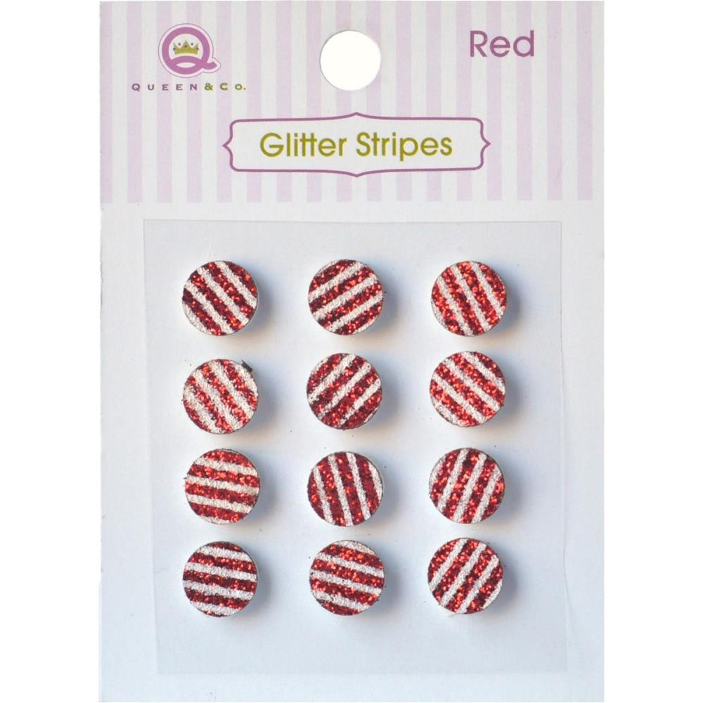 Glitter Stripes Red