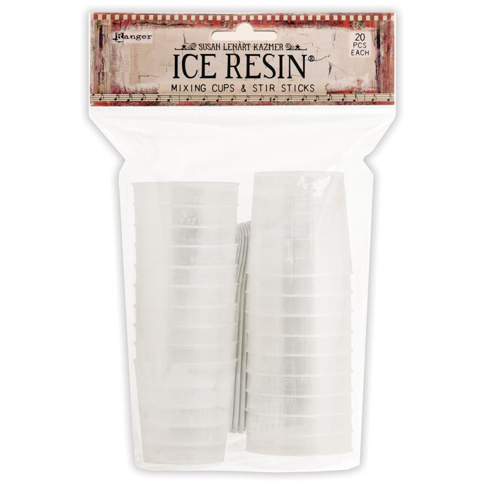 Ice Resin Mixing Cups & Stir Sticks 20 unds