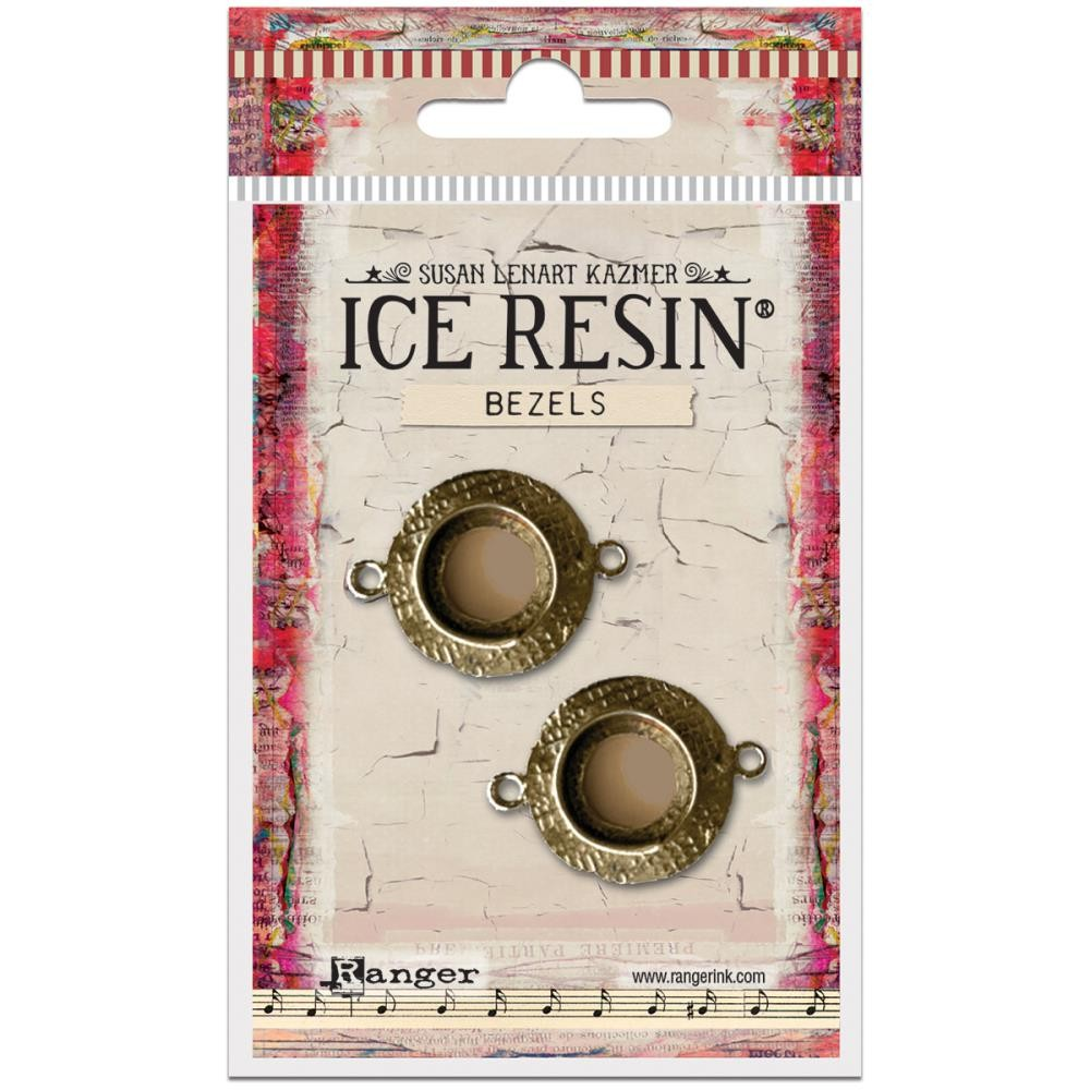 Antique Bronze Small Circle Bezels Ice Resin