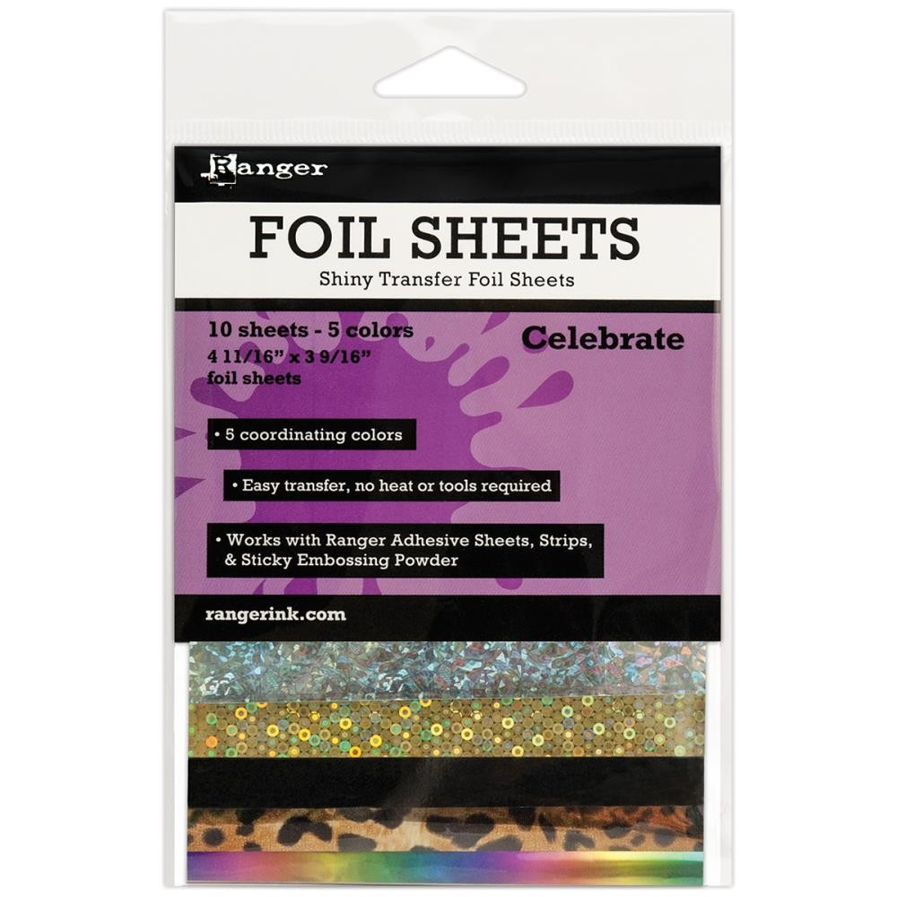Celebrate Shiny Transfer Foil Sheets