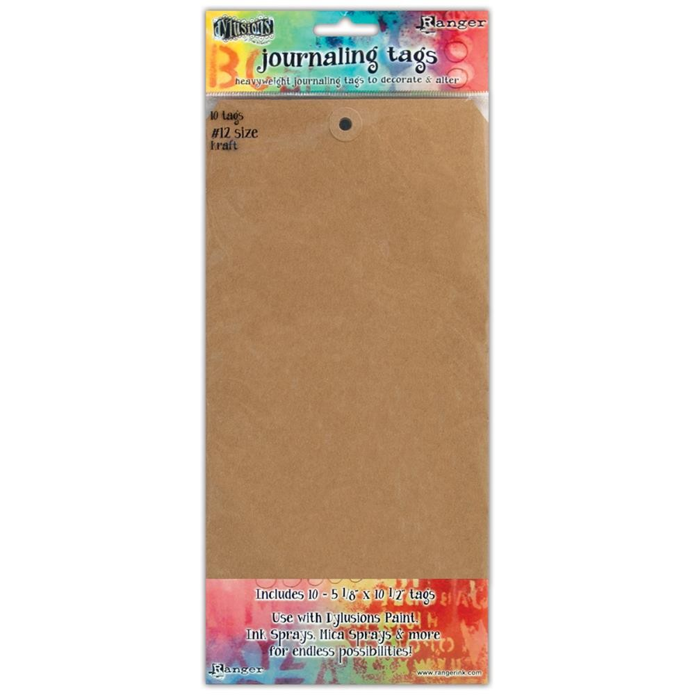 #12 Kraft Dylusions Journal Tags