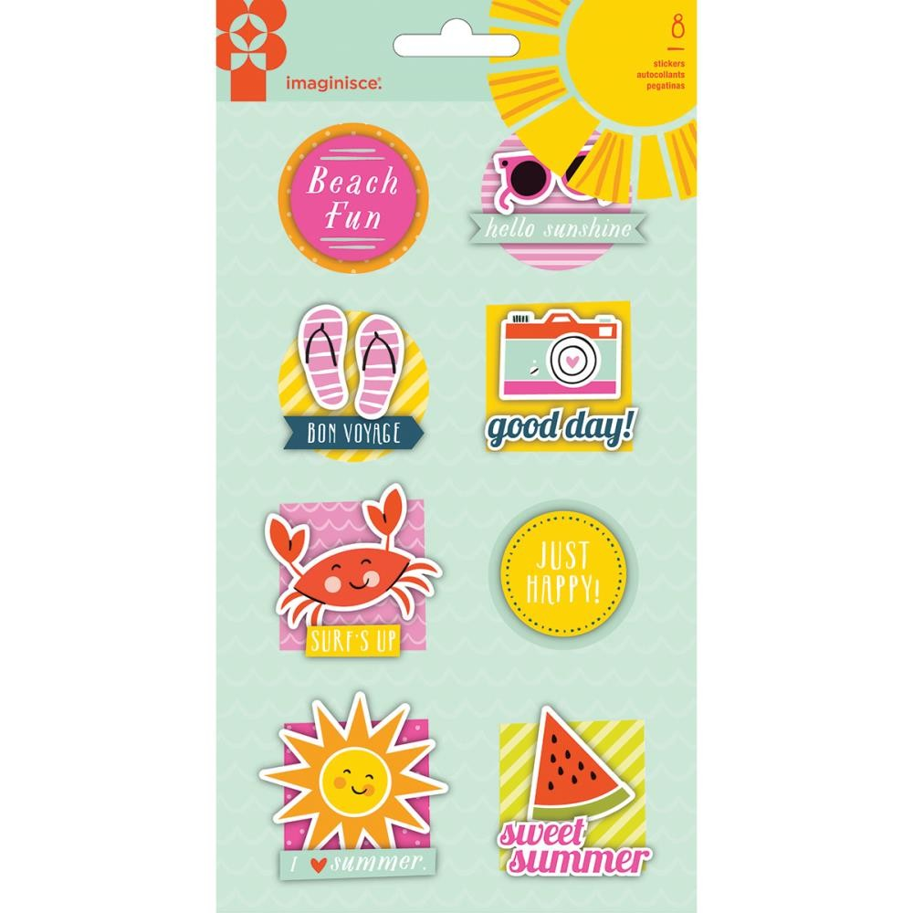 3D Stickers Sunny