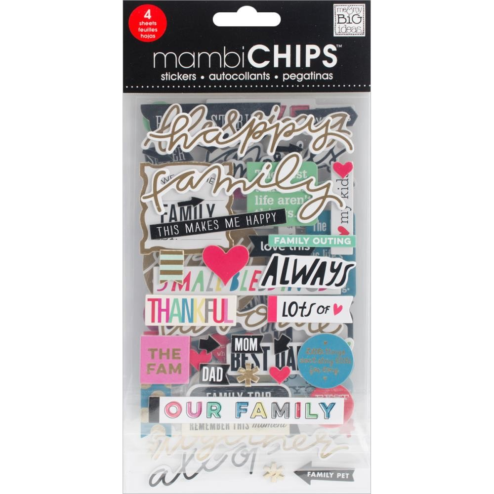 Happy Family Chipboard Value Pack