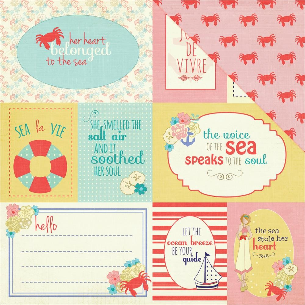 Papel estampado Doble cara 12x12 Nautical Bliss Cards