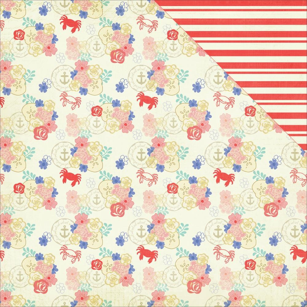 Papel estampado Doble cara 12x12-Nautical Bliss-Floral
