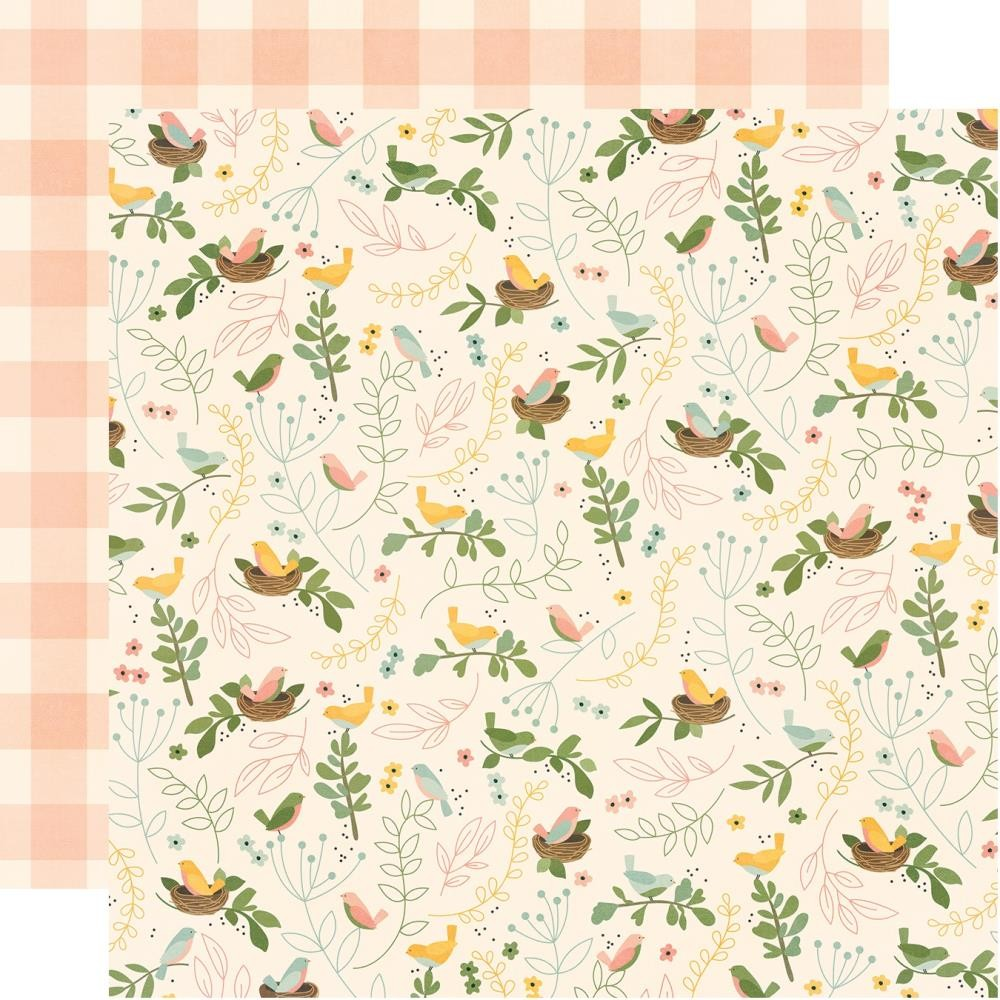 Papel Estampado Doble Cara 12x12 Spring Farmhouse So Blessed