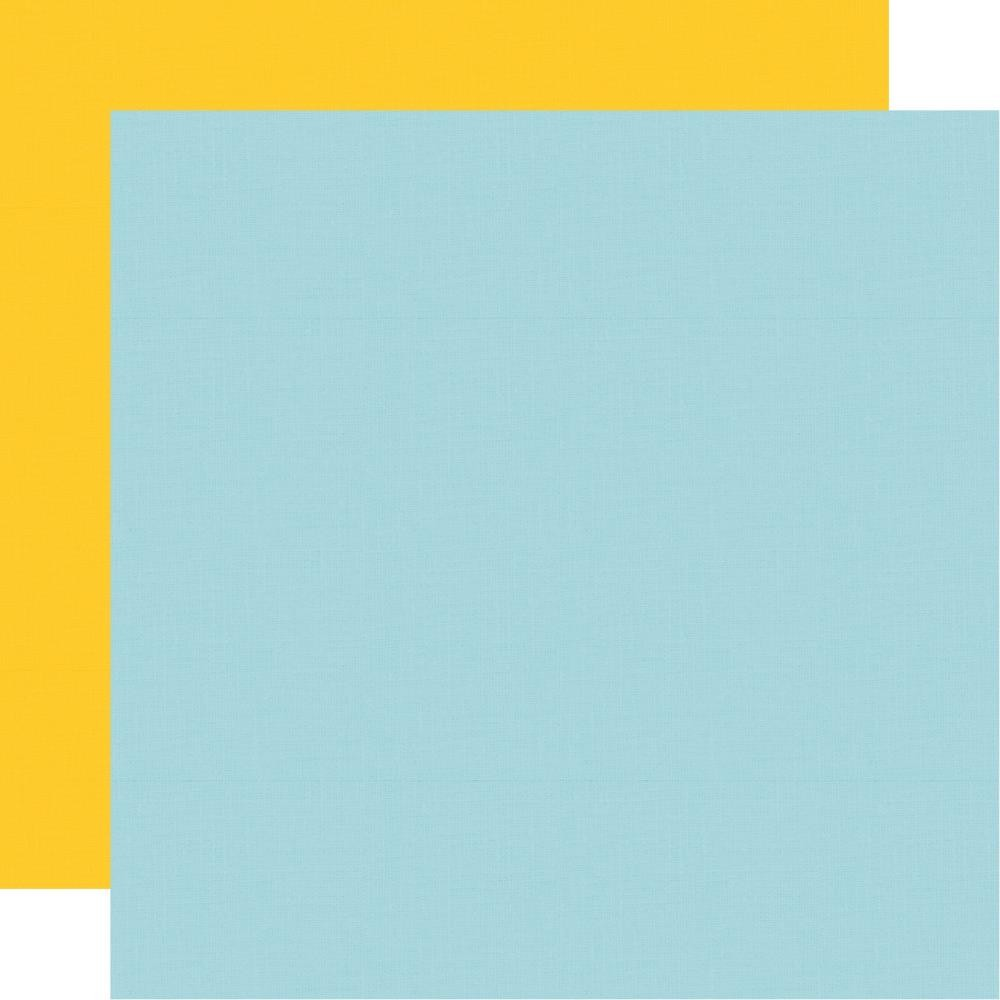 Papel Estampado Doble Cara 12x12 Say Cheese 4 Yellow Light Blue Simple Basic