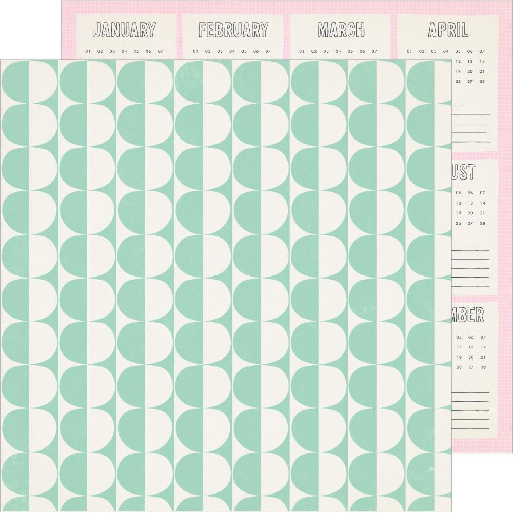 Papel Estampado Doble Cara 12x12 Sunny Days Weekend