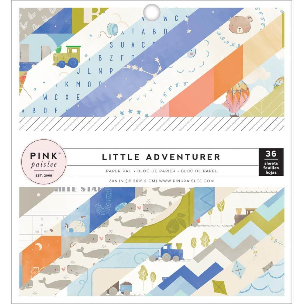 Stack Papeles Estampados 6x6 Una cara Little Adventurer Boy