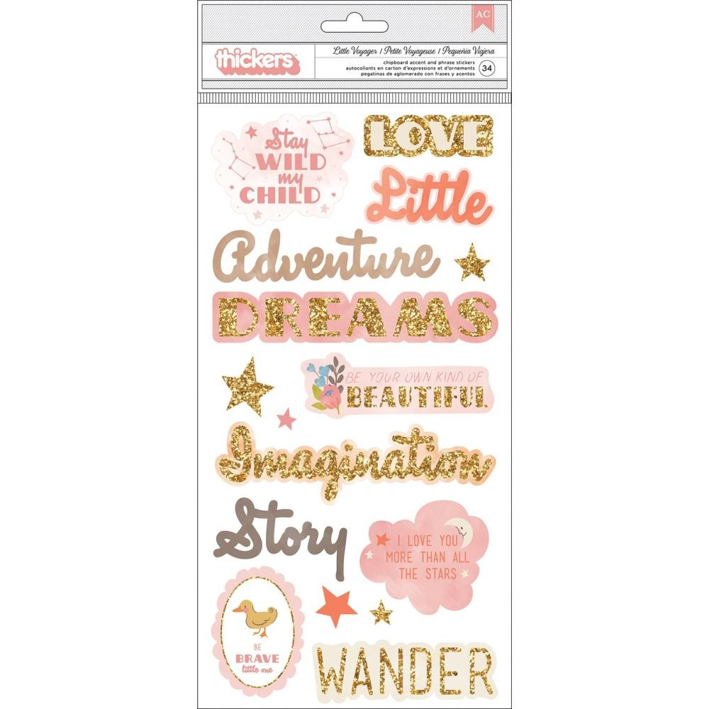 Thickers Little Adventurer Phrase and Icons Girl